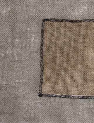 Burlap on primitive linen