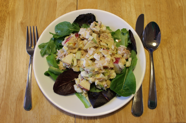 Tuna Egg Waldorf Salad