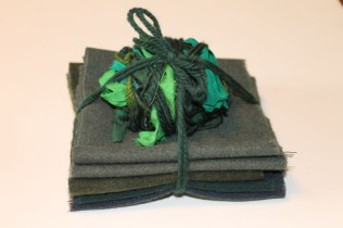 Dark Green Wool & Silk Bundle #1 - $25 CAD + shipping.