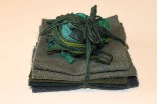 Dark Green Wool & Silk Bundle #2 - $25 CAD + shipping.